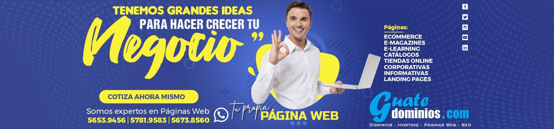 Páginas Web Guatemala